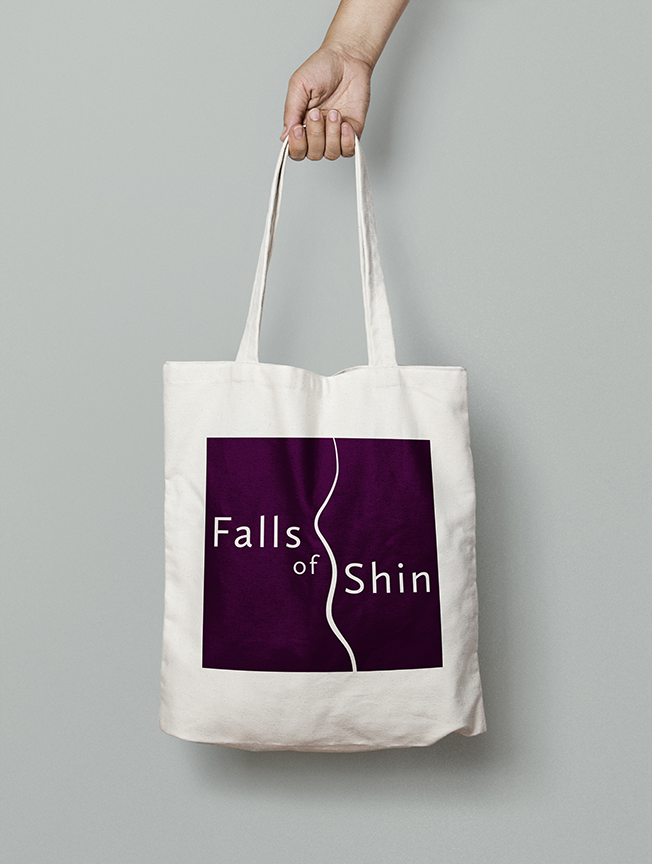 Falls of Shin Visitor Attraction tote bag
