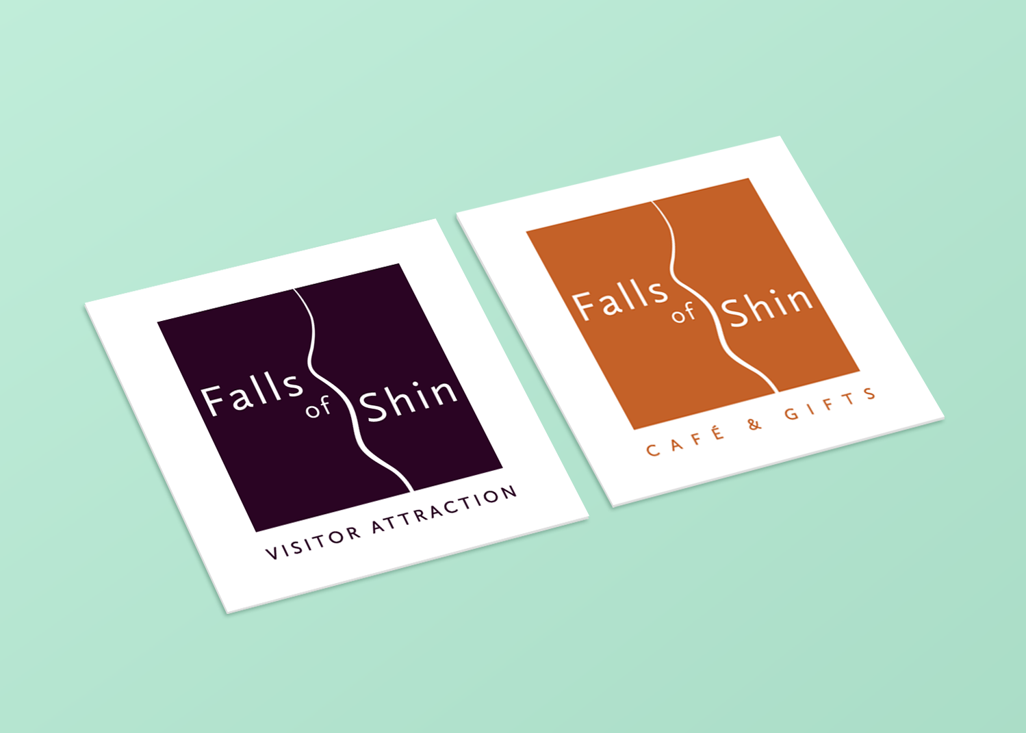 Falls of Shin Visitor Attraction and Cafe & Gifts Logos