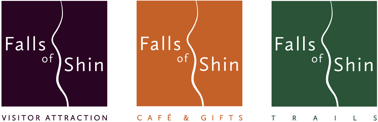 Falls of Shin Visitor Attraction, Cafe & Gifts and Trail logos